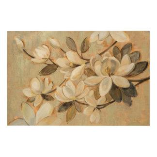 Magnolia Simplicity Cream Wood Print