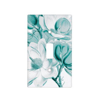 magnolia teal light switch cover