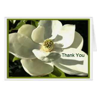 Magnolia Thank You Card for Anyone-White/Green