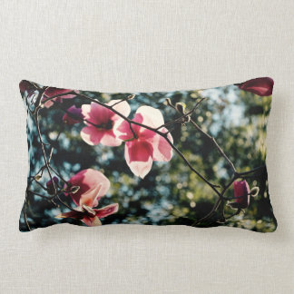 Magnolia Throw Pillow - Pink Flower - Caribbean
