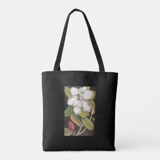 Magnolia tote bag, black