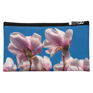 Magnolia tree cosmetic bag