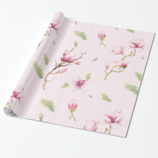Magnolia Tree Pattern Wrapping Paper