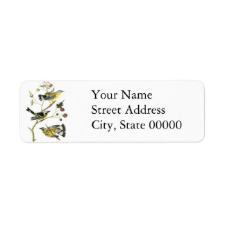 Magnolia Warbler, John Audubon Return Address Label