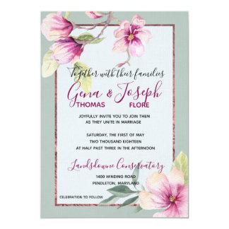 Magnolia Watercolor and Glimmer Card