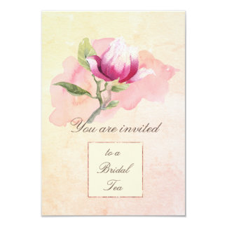 Magnolia Watercolor Tea Party Invitation
