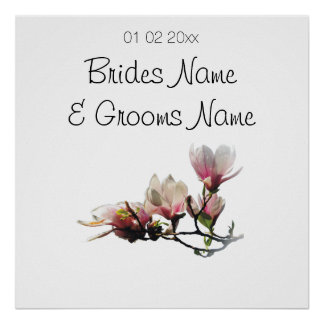 Magnolia Wedding Souvenirs Keepsakes Giveaways Poster