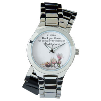 Magnolia Wedding Souvenirs Keepsakes Giveaways Watch