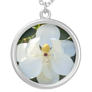 Magnolia White Silver Plated Necklace