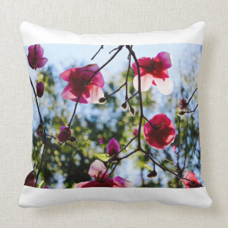Magnolias - Cushion - Canvas Art - Pink