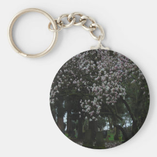 Magnolias Forever Basic Round Button Keychain