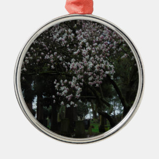 Magnolias Forever Silver-Colored Round Ornament
