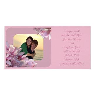 Magnolias Wedding Announcement Photo Greeting Card