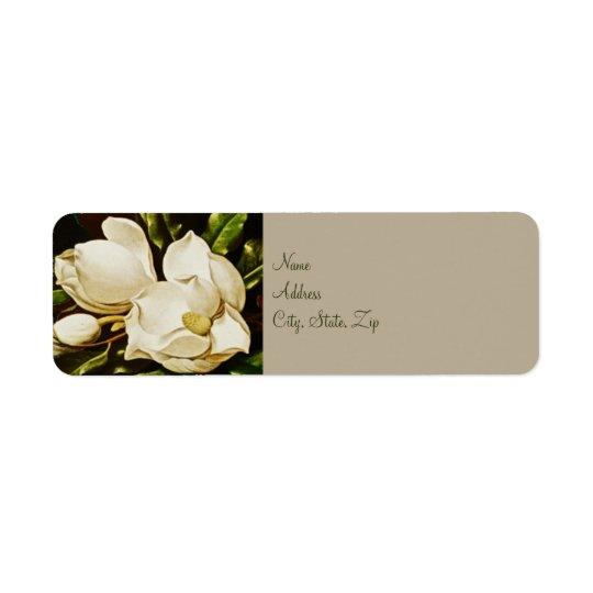 Magnolias Wedding Return Address Labels