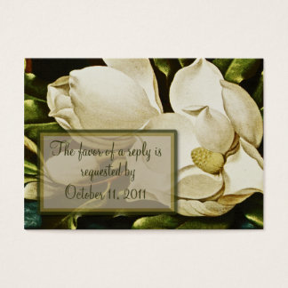 Magnolias Wedding RSVP Reply Card