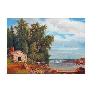 Magnus von Wright Beach Landscape from Lövö Canvas Print
