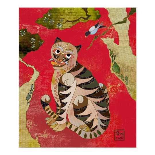 Magpie and Tiger: Korean Folk Art Poster