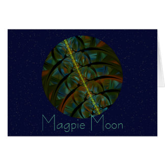 Magpie Crow Moon Card