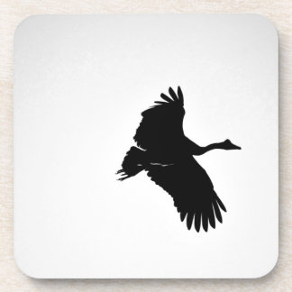 MAGPIE GEESE IN FLIGHT SILHOUETTE AUSTRALIA COASTER