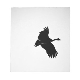 MAGPIE GEESE IN FLIGHT SILHOUETTE AUSTRALIA NOTEPAD
