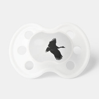 MAGPIE GEESE IN FLIGHT SILHOUETTE AUSTRALIA PACIFIER