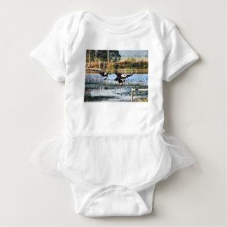 MAGPIE GEESE QUEENSLAND AUSTRALIA BABY BODYSUIT