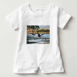 MAGPIE GEESE QUEENSLAND AUSTRALIA BABY ROMPER