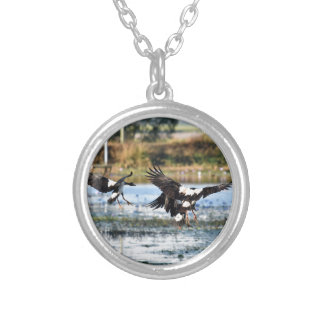 MAGPIE GEESE QUEENSLAND AUSTRALIA SILVER PLATED NECKLACE