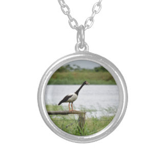 MAGPIE GEESE RURAL QUEENSLAND AUSTRALIA SILVER PLATED NECKLACE