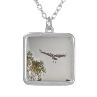 MAGPIE GOOSE AUSTRALIA ART EFFECTS SILVER PLATED NECKLACE