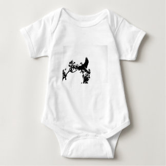 MAGPIE GOOSE IN FLIGHT SILHOUETTE AUSTRALIA BABY BODYSUIT