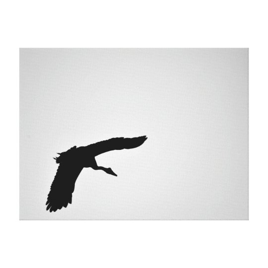 MAGPIE GOOSE IN FLIGHT SILHOUETTE AUSTRALIA CANVAS PRINT