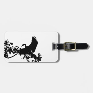 MAGPIE GOOSE IN FLIGHT SILHOUETTE AUSTRALIA LUGGAGE TAG