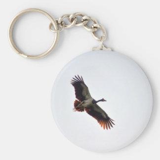 MAGPIE GOOSE QUEENSLAND AUSTRALIA ART EFFECTS KEYCHAIN