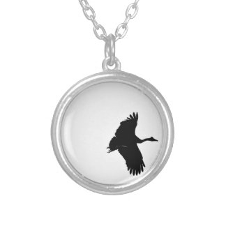 MAGPIE GOOSE QUEENSLAND AUSTRALIA SILVER PLATED NECKLACE