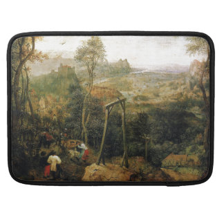 Magpie on the Gallows by Pieter Bruegel Sleeve For MacBook Pro
