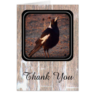 Magpie Thank You card