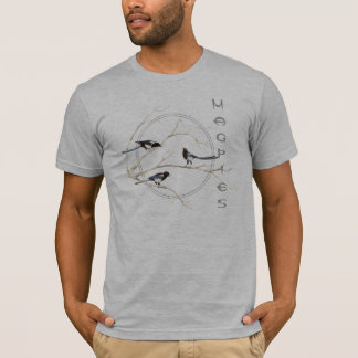 Magpie, Watercolor Bird Collection, Nature T-Shirt