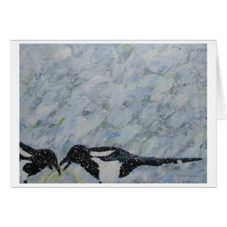 Magpies Blank Note Card by Mark Ea...