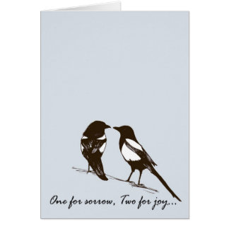 magpies - one for sorrow, two for joy card