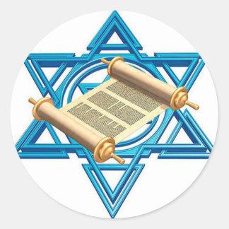 Maguen David Torah Classic Round Sticker