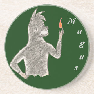 Magus (with name) coaster