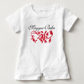 Magyar Baba w/Red Flower Baby Romper