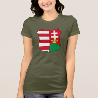 Magyar Hungarian Shield Women's Jersey T-Shirt