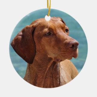 Magyar Vizsla Dog Ceramic Ornament