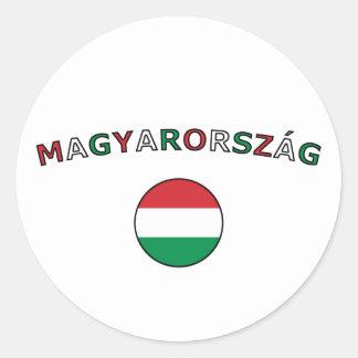 Magyarorszag Classic Round Sticker