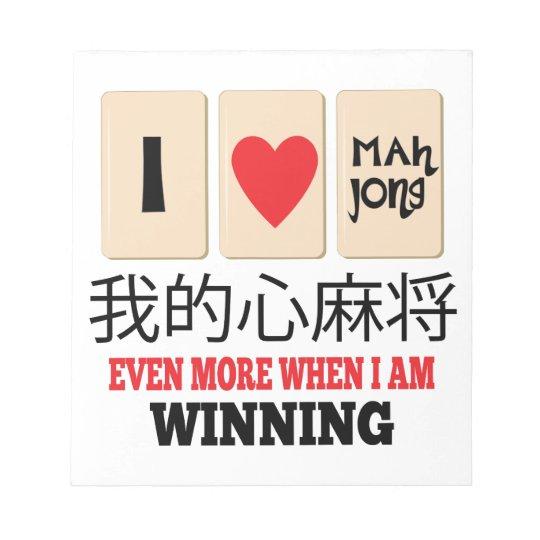 Mah Jong & WInning Notepad