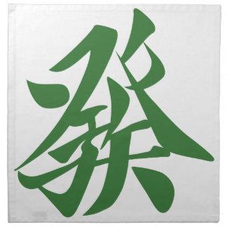Mah-jongg 牌 發 napkin
