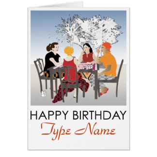 Mah Jongg Alfresco Birthday Card