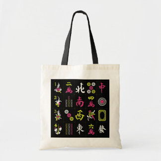 Mah Jongg Black/Fuchsia/Lime Bag